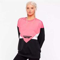novo desenhista hoodies venda por atacado-Designer Hoodie Mulheres Hoodies e Moletons Com Capuz Casuais Nova Moda Maré de Luxo Mulheres Casaco Com Capuz com Letra Impressa Rosa M-2XL