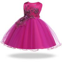 vestido de novia princesa verano al por mayor-2019 niñas pequeñas vestido de verano bordado princesa vestido disfraz niños vestidos para niñas vestidos fiesta boda 3 10 años
