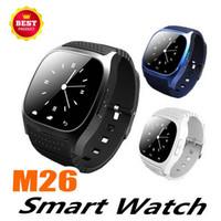 cradle entwürfe großhandel-M26 bluetooth smart watch für frauen männer mit sim kartensteckplatz nfc gesundheit uhren für samsung android smartphone cradle design