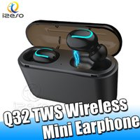 Wholesale strong wire online – Q32TWS Headphones Strong Waterproof Top Quality Mini Twins Wireless Bluetooth5 Headset Charged For Mobile Phones With Retail Packain izeso