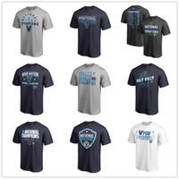 ingrosso t-shirt di nazione-Villanova Wildcats Fanatics Branded 2018 NCAA Campione nazionale di pallacanestro maschile Nova Nation T-Shirt Navy bianco grigio College Camicie
