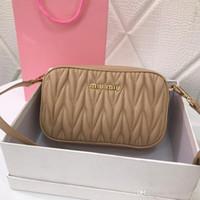 ingrosso telecamere in pelle-2020 borse a tracolla regalo di modo nuovo 5BH539 Lady doppia cerniera borsa fotografica borsa piccola borsa in pelle di qualità superiore buon cross-corpo delle donne sacchetti di rosa