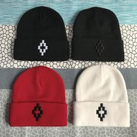 kızlar için hip hop kapakları toptan satış-Marcelo Burlon Beanie Kış Nakış Kadınlar Erkekler Için Şapkalar Kaput Hip hop Erkek Kız Bayanlar Kaşmir Kafatası Kapaklar Harajuku S ...