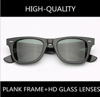 outlet online best prices exclusive deals High-quality classical retro-vintage unisex sunglasses acetate plank HD  glass lenses UV400 full-set case for prescription sunglasses cheap