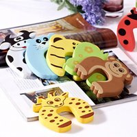Wholesale baby door stops for sale - Group buy New Care Child kids Baby Animal Cartoon Jammers Stop Door stopper holder lock Safety Guard Finger