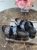 ingrosso pattini viola scuro che wedding-Scarpe da donna sandali firmati di lusso da donna scivoli di moda estate ampia sandali piatti scivolosi sandali infradito taglia 35-42 con scatola originale