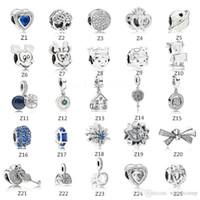 bilezikler için süslemeler toptan satış-S925 Gümüş boncuk takı için Pandora Bilezik Uyar Kristal yapmak için Dangle Aşk Boncuk Charms Avrupa Yılan Zincir Moda