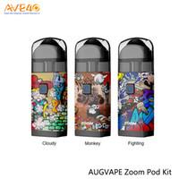 bateria de zoom venda por atacado-Kit de iniciação Zoom Pod da Augvape 1000mAh Bateria de zoom AUGVAPE e Cartucho de Podró Zoom de 300ml AUGVAPE 100% Original