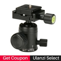 Wholesale video slider for sale - Group buy Ulanzi Aluminum Tripod Head Ball Head with Quick Release Plate quot Screw for Track Dolly Slider Video Stabilizer Rail System