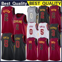 Wholesale s wear top for sale - 5 Smith Jersey Kevin Collin Love Sexton Top Quality Stitched Basketball Wear Basketball Jerseys