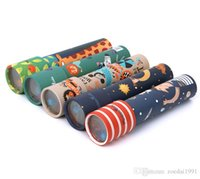 ingrosso ventilatore giocattolo solare-Animali fantasiosi Cartoon 3D Caleidoscopio Carta Carta Caleidoscopio Mondo colorato Giocattoli interattivi Regali per bambini