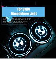 Wholesale led light car bmw for sale - Group buy BMW E90 E46 E39 E60 F30 F10 F15 F16 X5 X6 Car Led Shiny Water Cup Pad Groove Mat Luminous Coasters Atmosphere Light