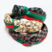 Wholesale christmas hair accessory for sale - Group buy Twist Turban Floral Headband Prints for Women Stretch Hairbands Sport Headbands Yoga Headwrap Bandana Girls Hair Accessories KKA2680