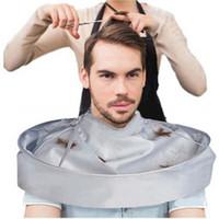 ingrosso capo taglio di capelli ombrello-150 PZ Hot Adulto Pieghevole Capelli Cape Taglio Mantello Ombrello Cape Salon Barbiere Impermeabile per Salon Barbiere Speciale Hair Styling Accessorio