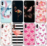 Wholesale iphone 5c tpu cute cases for sale – best TongTrade Pink Cute Bird Flamingo Painted Case For iPhone Pro Max X XS XR s s c Plus Galaxy J3 J5 Honor X X X HTC Desire Case