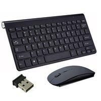 dizüstü bilgisayar kombinasyonları toptan satış-Kablosuz Klavye Fare 2.4 GHz Ultra İnce Tam Boyut Şarj Edilebilir Kablosuz Klavye ve Fare Kombinasyonları Dizüstü Dizüstü Bilgisayar Masaüstü için