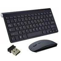 ultra laptops venda por atacado-Teclado sem fio Mouse 2.4GHz Ultra Slim Sem Fio Recarregável Sem Fio Teclado e Mouse Combos para Laptop Notebook Computador Desktop