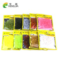 Wholesale soft lures shad online - Hengjia fake bait Soft floating T fish Bionic isca Artificial fishing Lure fly fishing silicone bait Worms Shad Bass Y18101002