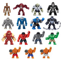 commander des boîtes en plastique achat en gros de-Bloc de construction Hulk Puzzle Avenger 4 Super héros Marvel Jouets Venom Juggernaut Géant Figurines Groot Anti-Hulk Mech Enfants jouets éducatifs