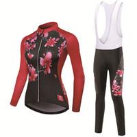 kış bisikleti toptan satış-Kış Bisiklet Seti Bisiklet Giyim Pro Team Bisiklet Yokuş Aşağı Jersey Skinsuit MTB Elbise Roupas De Ciclismo Uzun kollu