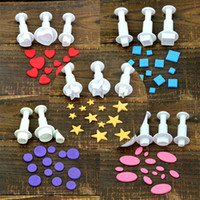 Wholesale cookies stamp for sale - Group buy VOGVIGO Set Fondant Cookie Cake Cutter Ejector Stamp Plunger Mold Embossed Star DIY Kitchen Baking Cake Decorating
