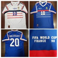 6789d967a16 Wholesale france jersey thai online - 1998 FRANCE retro soccer jerseys home  top thai AAA customzied