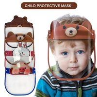 Wholesale full face masks designs resale online - 12 Designs Child Protective Mask Cute Cartoon Face Shield PET Anti Fog Full Face Isolation Mask Prevent Transparent Visor Kids Party Masks