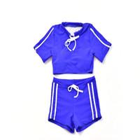 modische bikinis großhandel-33678 Bikinis Set Modisch Einfarbig Damen Sommer Strand Bandage Bademode Badeanzug Badeanzug