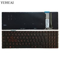 griechische tastatur großhandel-Griechisch rot beleuchtete Laptop-Tastatur Für ASUS GL552 GL552J GL552JX GL552VL GL552VW N751 N751J N751JK N751JX G551VW