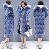 Wholesale women s raccoon fur jackets for sale - Group buy 2019 Hot Women Winter Real Raccoon Fur Down Jacket Women Short Silver Fox Hooded Warm Down Coat Winter Coat Size S XL