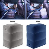 Wholesale car foot rest pad resale online - Useful Travel Inflatable Foot Rest Pillow Adjustable Height Portable Leg Rest pad Cushion Carrying Bag Airplane for Car Office