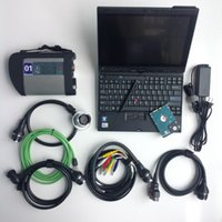Wholesale c4 sd hdd resale online - 2019 newest mb star c4 with x200t laptop touch screen hdd gb software ready to use for mb sd connect C4 diagnostic tool