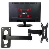 Wholesale flat panel tv mounts wall resale online - Displayer Flat Panel With Screws Home Use Public Places Wall Hanging TV Mount Set Adjustable Frame Support For Inches