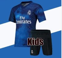 Wholesale 2019 Kids Kit Real Madrid Football Jersey Home White Away Boy Soccer Jerseys ISCO ASENSIO BALE KROOS Child rd red Soccer Shirts