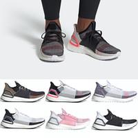 official photos 91595 64bb6 Adidas 2019 Ultra Boost 19 Hommes Femmes Chaussures De Course Ultraboost  5.0 Laser Rouge Foncé Pixel Core Noir Bon Marché Sport Sneaker Taille 36-47