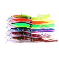 señuelo trolling al por mayor-Aparejos de pesca 14 cm 40 g Pulpo Calamar Señuelo Plástico duro Señuelos de pesca Trolling Bionic Artnowial Minnow Bait LJJZ274