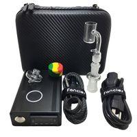 Wholesale fancy nails resale online - Fancier Enail E Nail Banger E Quartz Nail MM MM MM Electric Dab Nail Box Kit Temperature Controller Rig glass Bongs