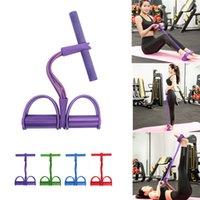 New Single Tube Strong Fitness Resistance Bands Latex Pedal Exerciser Women Men Sit Up Pull Ropes Yoga Fitness Equipment