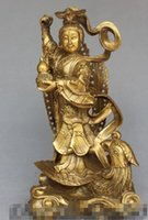 Wholesale china ornaments traditional resale online - NEW quot Chinese Folk Culture Traditional Bronze Stand Phoenix Nine days Xuannv Statue