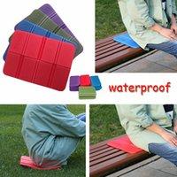 klappstühle gepolsterte sitze großhandel-XPE bewegliche im Freien Folding faltbare Schaum Sitzwasserdichte Stuhl-Kissen-Matten-Auflage