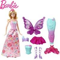 ingrosso barbie girl dresses-Original Barbie Brand Dress Up Caratteristica Mermaid Doll The A Regalo di compleanno Girl Gift Gift Boneca Juguetes Q190521