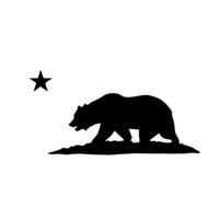 ücretsiz araç çıkartmaları toptan satış-Kaliforniya Cumhuriyeti Bayrağı Ücretsiz Araba Kamyon Vinil Araba Sticker Dekoratif Çıkartması Aksesuarları