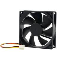 ventilador de refrigeração de 12v cpu venda por atacado-1 pc DC 12 V 3-Pin 90x90x25mm CPU Dissipadores de Calor Ventilador de Refrigeração do CPU Ventilador de Refrigeração de Ar-cooler 65 CFM Atacado