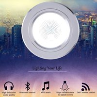 farbe wechselnde deckenleuchten großhandel-LanLan 2PCS LED Farbwechsel Bluetooth Deckenleuchte Lampe 4.0 Music Seiling Lights Smart Kreative Dekorative Downlights