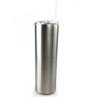café de té al por mayor-Vasos rectos de acero inoxidable de 30 oz Tazas rectas Tazas con paja y tapa para cerveza Té Café Botellas con aislamiento de vacío de doble pared
