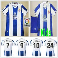 kundenspezifische fußball jersey kinder großhandel-19 20 RCD Espanyol Fußballtrikots WU LEI B.IGIESIAS S.DARDER S.GARCIA FERREYRA GRANERO Custom Home 2019 2020 ADULT KIDS FOOTBALL SHIRTS