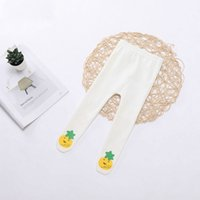 Wholesale baby clothes bananas resale online - Baby Girl Cotton Pantyhose Banana Pineapple Print Child Baby Socks Children Girl Long Legs Warm Children s Clothing Accessories
