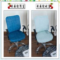 Wholesale folding chairs covers for sale - Group buy Blue color series folding chair covers stretch spandex for dining room princess cream chair cover solid color of chair cover thic