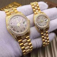 dama reloj pequeño al por mayor-6 relojes de lujo en color para hombres 18K correa de oro Marcas hombres 36MM Mujeres 26MM Mujeres de calidad superior Reloj mecánico automático pequeño dial
