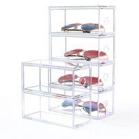 Wholesale sugar lipstick resale online - Multi layer Lipstick Box Acrylic Lipstick Holder Case Cosmetics Storage Makeup Glasses Organizer Nail Polish Display Stand